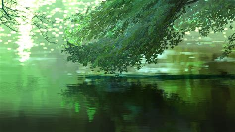 Tree Anime Wallpaper - tree the water in the anime garden of words