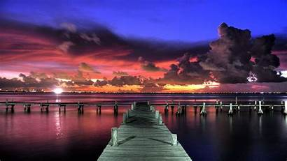 Sunset Dock Sky Clouds Wallpapers Pier Travel