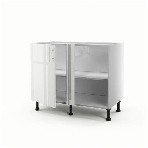 meuble de cuisine bas d angle blanc 1 porte h70xl100xp56 cm leroy merlin