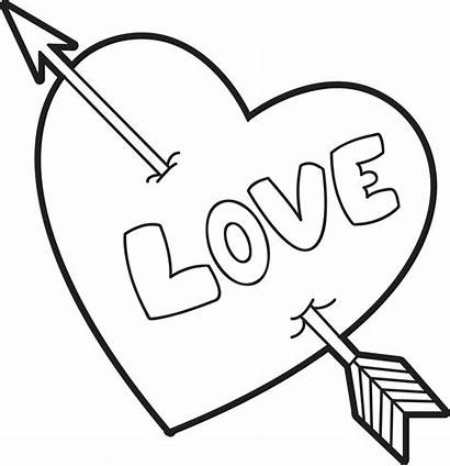 Valentine Coloring Heart Printable