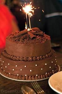 Two Tier Chocolate Birthday Cake - A Birthday Cake