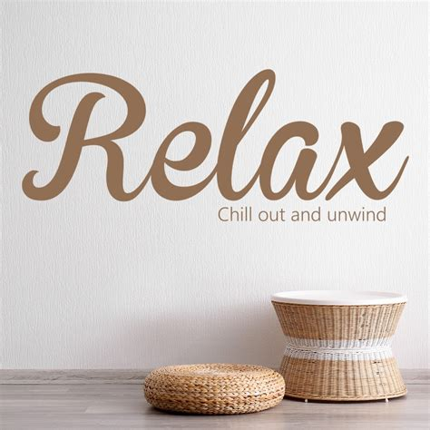 relax wall sticker bathroom quote wall decal chill