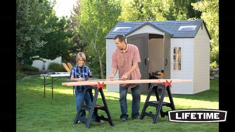 lifetime 10 x 8 garden shed french youtube