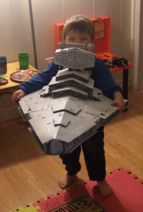 geek art gallery crafts cardboard star destroyer