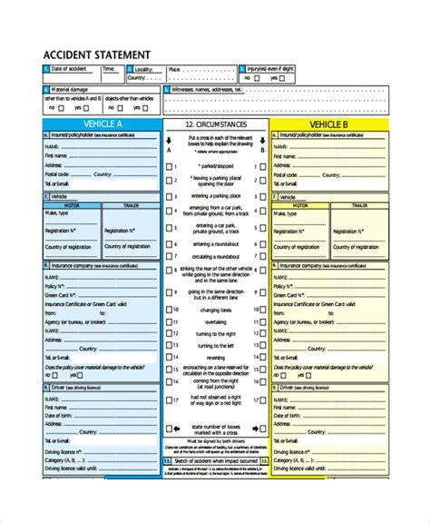 sample statement templates   ms word excel