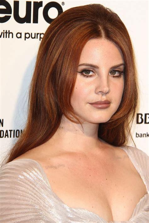 Lana Del Rey Straight Auburn Bouffant Overgrown Bangs