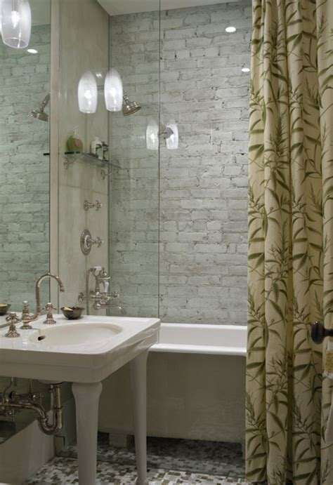 Mosaic Shower Curtain by Parisian Pedestal Sink Transitional Bathroom Kathryn