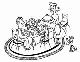 Dinner Coloring Pages Table Diner Sketch Colorear Template Getdrawings Getcolorings sketch template