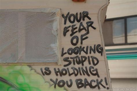 fear   stupid  holding   unknown