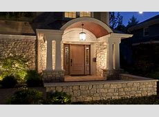 Rustic Modern House Design With Stone Wall Exterior And