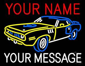 Custom Car 9 Neon Sign