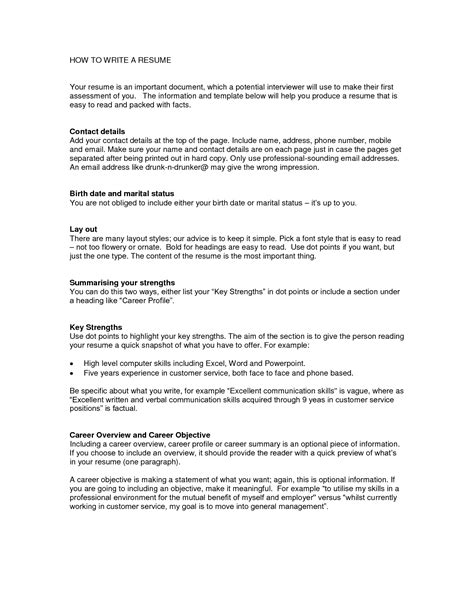 Write Resume Sle by How To Write A Resume Net The Easiest Resume
