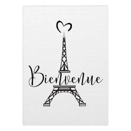 """Bienvenue"" (Welcome in French) Plaque | Zazzle.com ..."