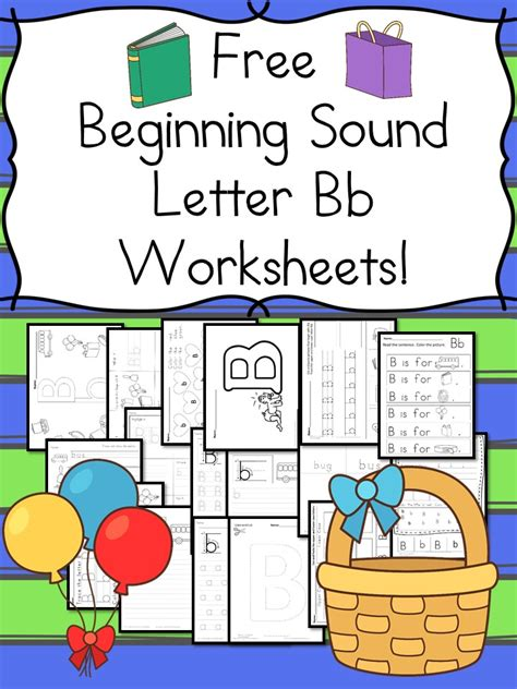 Free Beginning Sounds Letter B Worksheets  Free Homeschool Deals