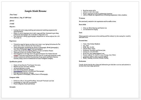 Exle Of Child Model Resume by 1000 Ideas About Firefighter Resume On