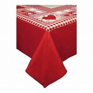Aux Portes De La Deco : nappe de table forever rouge country corner aux portes ~ Nature-et-papiers.com Idées de Décoration