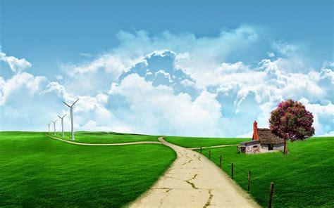 koleksi wallpaper gambar kartun pemandangan alam gambar