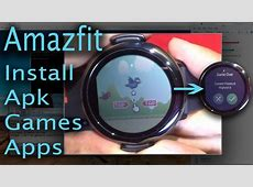 Amazfit pace How to install apkappsgames on amazfit