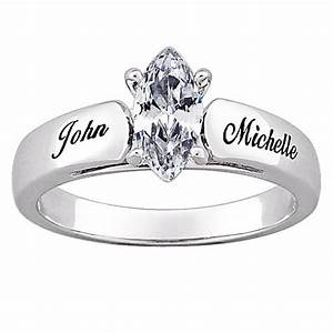 marquise cz personalized wedding ring 10070689 hsn With personal wedding rings