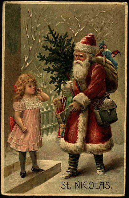 dataviz  art  vintage santa claus post cards