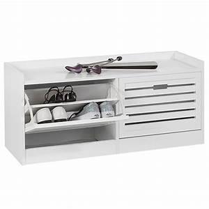 Meuble A Chaussure Banc : banc meuble chaussures adria blanc ~ Preciouscoupons.com Idées de Décoration