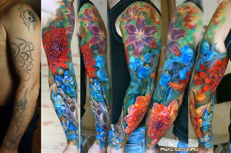 samarinas bright colored drawings  tattoos scene