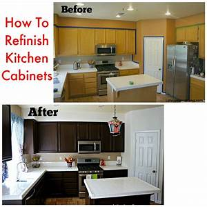 how to refinish your kitchen cabinets latina mama rama With how to resurface kitchen cabinets