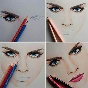 Girl With Makeup Drawing Tumblr