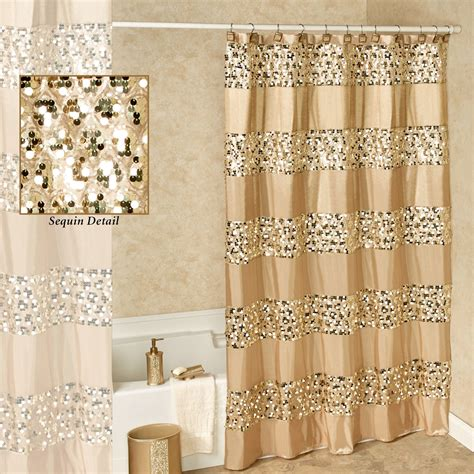 gold sequin shower curtain prestigue chagne gold sequined shower curtain