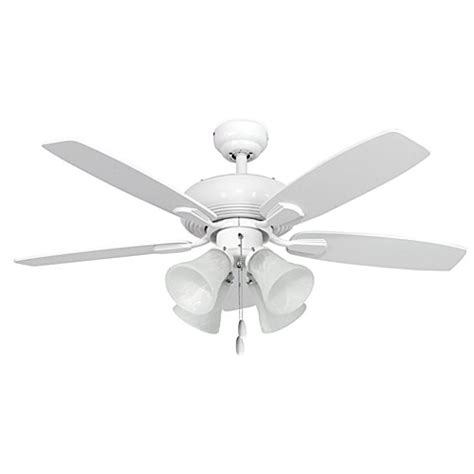 42 white ceiling fan with light 42 inch dorset 4 light white ceiling fan bed bath beyond