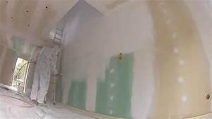 sous couche placo au pistolet youtube With preparer un mur avant peinture