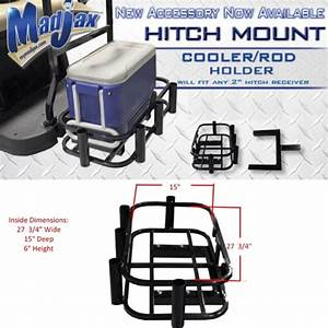 Golf Cart Hitch Mounted Cooler Rack Rod Holder