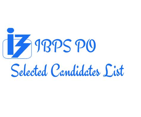 ibps po vii selected candidates list  state wise