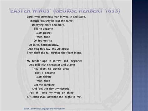 poetic language and poetic form