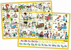 Two Pack Colour Chart Jolly Phonics Letter Sound Wall Charts Jolly Phonics
