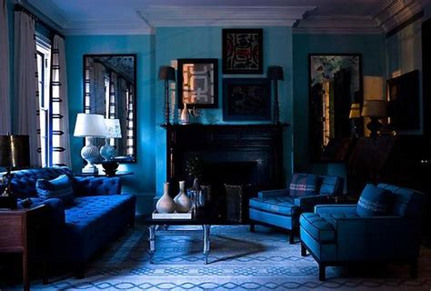 Monochromatic Blue Living Room by Dipped In Blueberry Monochromatic Rooms