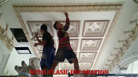 warna cat plafon klasik desain rumah