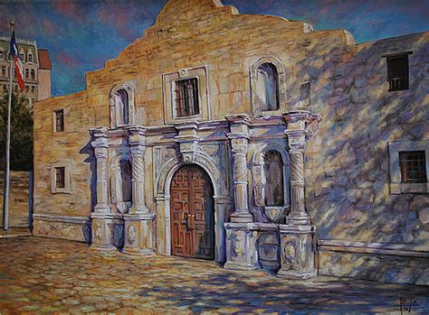 Alamo Painting By Henry David Potwin