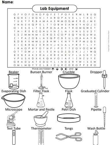 lab equipment word search by sciencespot teaching resources tes