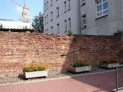 Ghetto Warsaw Wall Remains Poland Reflection Yid