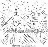Mountaineers Mountainous sketch template