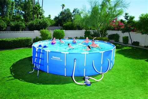 frame pool bestway bestway 18 x 48 steel pro frame pool set shop your way shopping earn points on