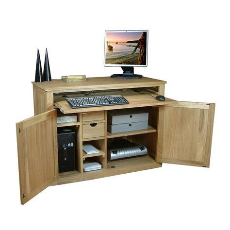 furniture bureau desk computer desk bureau baumhaus mobel oak cor06a