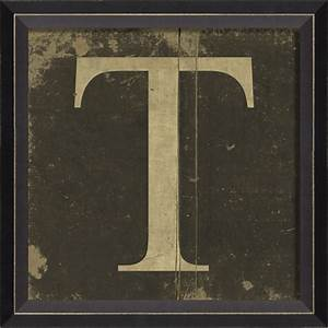 alphabet letter t framed wall art by spicher and company With framed letter wall art