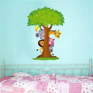 Stickers Arbre Photo : stickers arbre animaux pas cher ~ Teatrodelosmanantiales.com Idées de Décoration