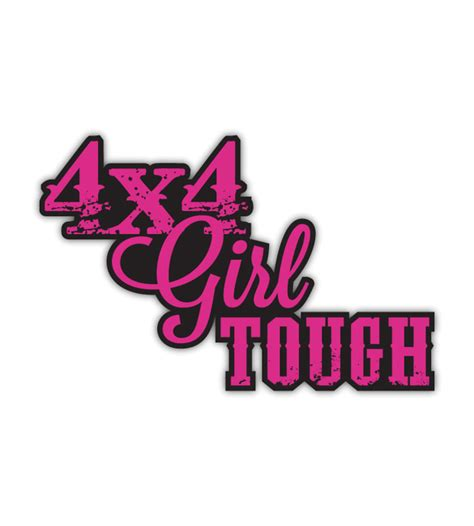 jeep stickers for girls all things jeep 4x4 tough decal