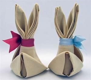 Pliage Serviette Lapin Simple : pliage de serviettes facile en lapin de p ques tutoriel rapide ~ Melissatoandfro.com Idées de Décoration