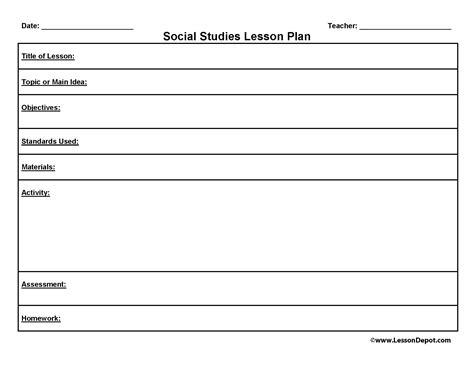 free civics lesson plan templates standards social