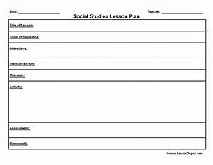 free civics lesson plan templates standards social With word study lesson plan template