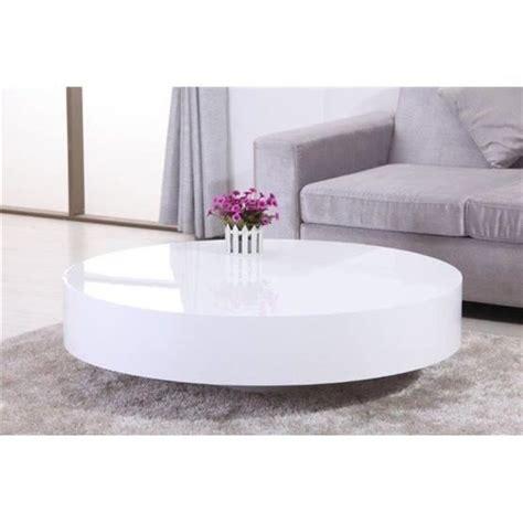 table ronde laque blanc table de salon blanc laque